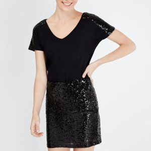 H&M Tight Black Sequin Mini Skirt - Sparkly & Cute